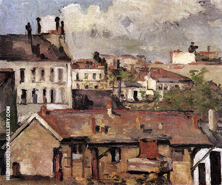 Roofs c1877 Painting By Paul Cezanne - Reproduction Gallery