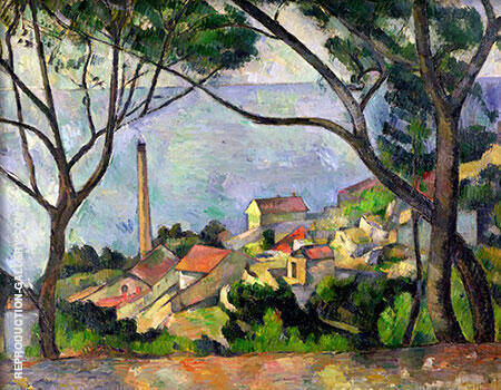 The Sea at L'Estaque, 1883-1886 By Paul Cezanne - Oil Paintings & Art Reproductions - Reproduction Gallery