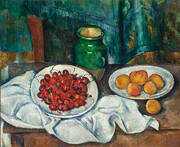 Cherries and Peaches, 1883-1887 By Paul Cezanne