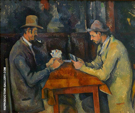 The Card Players, 1892-1896 By Paul Cezanne