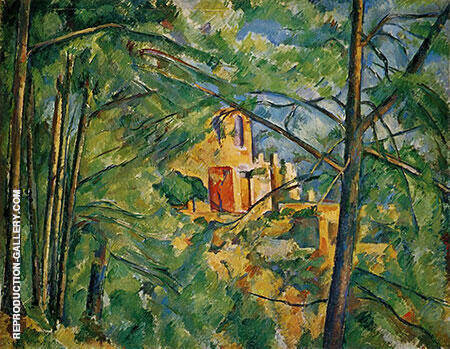 View of Chateau Noir 1894 By Paul Cezanne