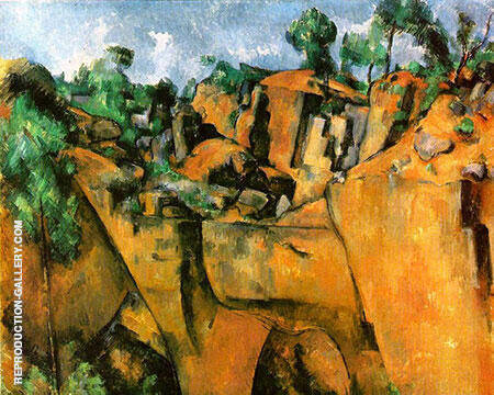 Quarry at Bibemus, 1898-1900 By Paul Cezanne - Oil Paintings & Art Reproductions - Reproduction Gallery