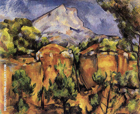 Mont Sainte-Victoire Seen from Bibemus 1898 By Paul Cezanne