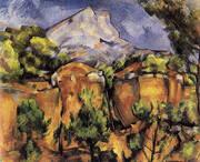 Mont Sainte-Victoire Seen from Bibemus 1898 By Paul Cezanne