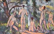 Study of Bathers By Paul Cezanne