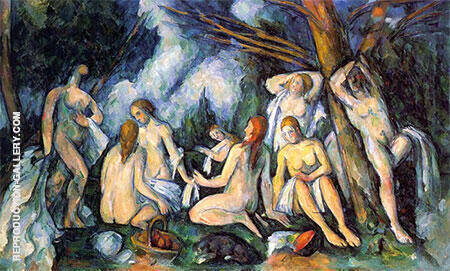 The Large Bathers, 1900-1905 Painting By Paul Cezanne