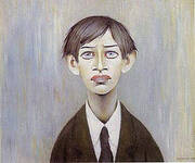 Portrait of a Young Man 1955 (Man with the Red Eyes) By L-S-Lowry