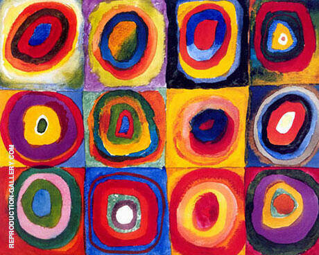 Concentric Squares and Circles 1913 By Wassily Kandinsky