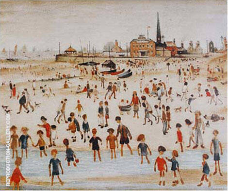 At the Seaside 1946 By L-S-Lowry - Oil Paintings & Art Reproductions - Reproduction Gallery