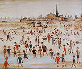 At the Seaside 1946 By L-S-Lowry