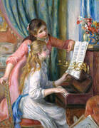 Two Girls at the Piano 1892 By Pierre Auguste Renoir