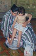 The Child's Bath 1893 By Mary Cassatt