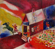 The Flying Carriage 1913 By Marc Chagall