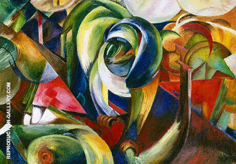 Der Mandrill 1913 By Franz Marc - Oil Paintings & Art Reproductions - Reproduction Gallery