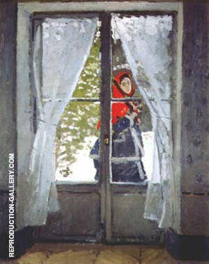 The Red Scarf Portrait of Madam Monet By Claude Monet