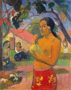 Woman Holding a Fruit Eii Haere ia oe 1893 By Paul Gauguin