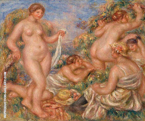 Composition with Five Bathers 1918 By Pierre Auguste Renoir - Oil Paintings & Art Reproductions - Reproduction Gallery