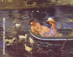 Summertime 1894 By Mary Cassatt - Oil Paintings & Art Reproductions - Reproduction Gallery