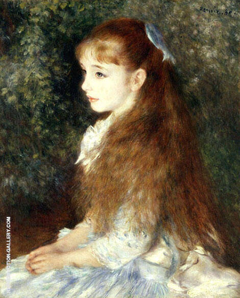 Portrait of Mademoiselle Irene Cahan d'Anvers By Pierre Auguste Renoir Replica Paintings on Canvas - Reproduction Gallery