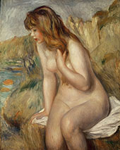Bather Seated on a Rock 1892 By Pierre Auguste Renoir