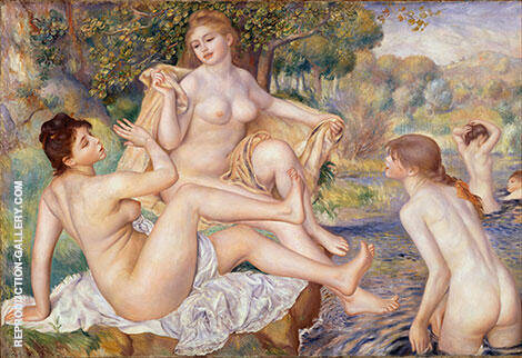 Large Bathers 1884 Painting By Pierre Auguste Renoir