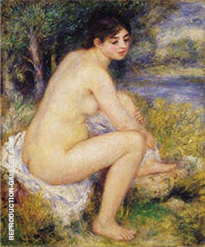 Reproduction of Nude Amid Landscape 1883 by Pierre Auguste Renoir | Oil Painting Replica On CanvasReproduction Gallery
