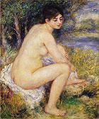 Nude Amid Landscape 1883 By Pierre Auguste Renoir
