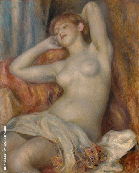Girl Sleeping Sleeping Bather 1897 By Pierre Auguste Renoir