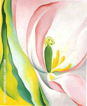 Pink Tulip 1926 By Georgia O'Keeffe - Oil Paintings & Art Reproductions - Reproduction Gallery