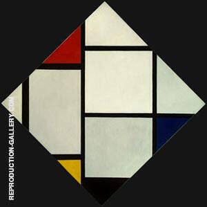 Tableau IV By Piet Mondrian - Oil Paintings & Art Reproductions - Reproduction Gallery