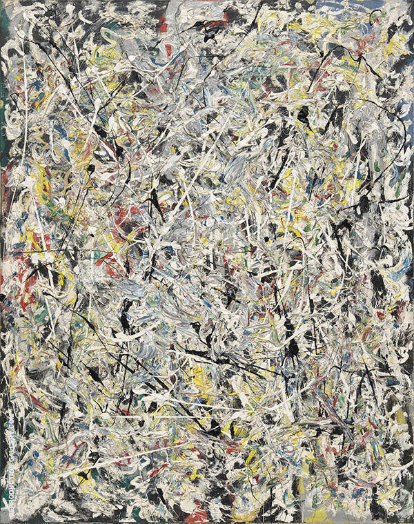Reproduction of White Light.  1954 by Jackson Pollock | Oil Painting Replica On CanvasReproduction Gallery