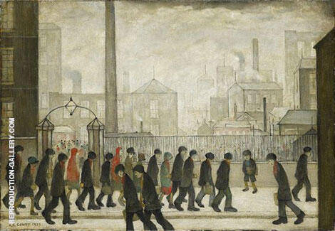 Returning from Work 1929 Painting By L-S-Lowry - Reproduction Gallery