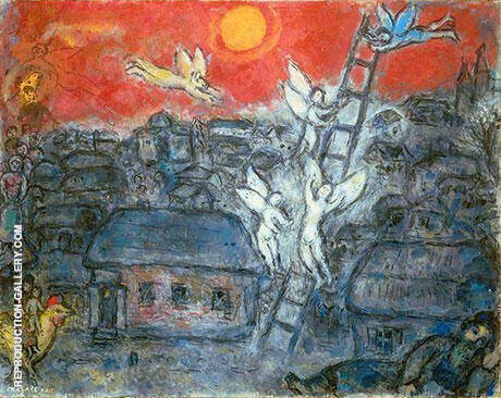 Jacob's Ladder Painting By Marc Chagall - Reproduction Gallery