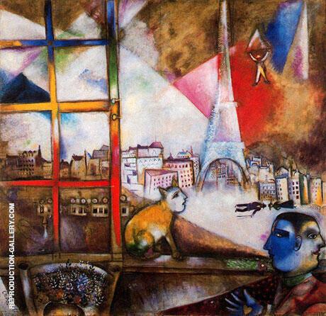 Paris Through the Window 1913 By Marc Chagall
