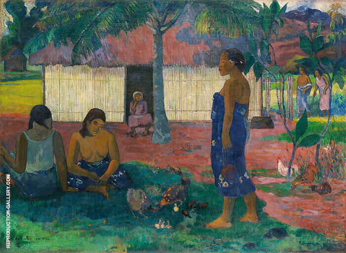 Why Are You Angry, No Te Aha Oe Riri? 1896 Painting By Paul Gauguin