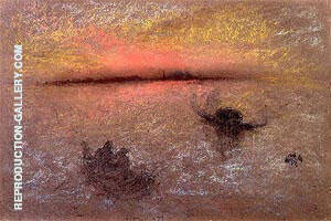 Reproduction of Venice at Sunset 1870 by James McNeill Whistler | Oil Painting Replica On CanvasReproduction Gallery