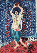 Odalisque with Tamborine Harmony in Blue By Henri Matisse