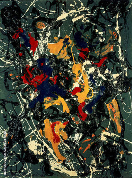 Number 3 1948 By Jackson Pollock (Inspired By)