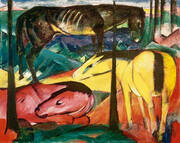 The Three Horses 1912 2 By Franz Marc