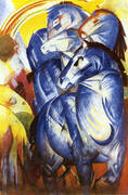 Tower of Blue Horses 1913 (Turm der Blauen Pferde) By Franz Marc
