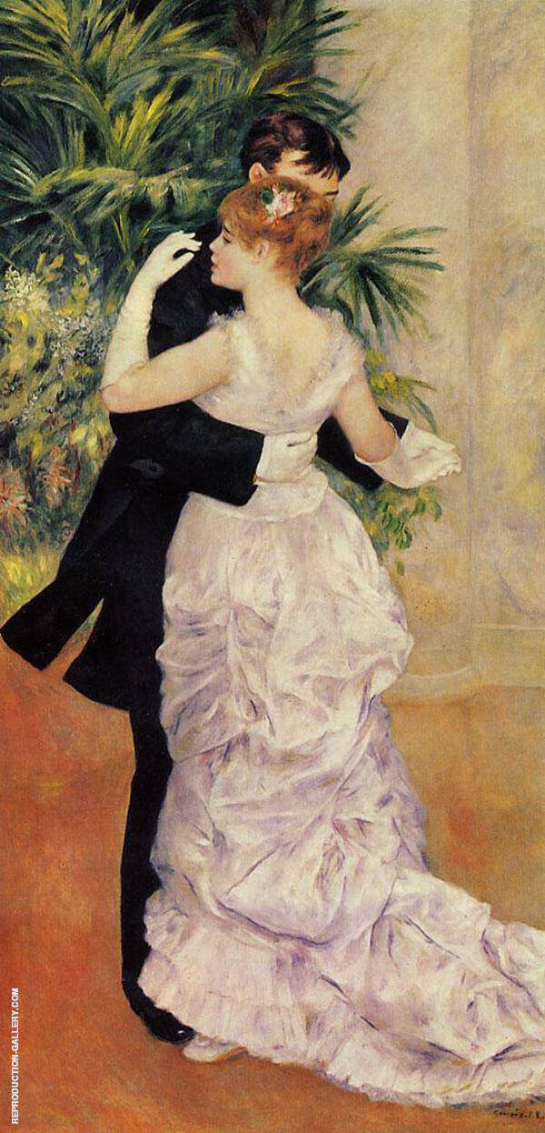 City Dance by Pierre Auguste Renoir | Oil Painting Reproduction Replica On Canvas - Reproduction Gallery