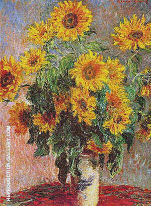Sunflowers Bouquet de Soleils 1880 By Claude Monet