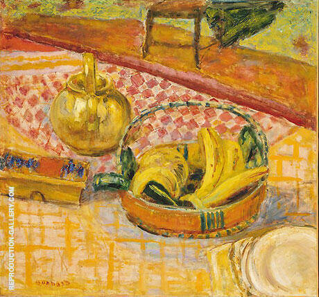 Basket of Bananas By Pierre Bonnard - Oil Paintings & Art Reproductions - Reproduction Gallery