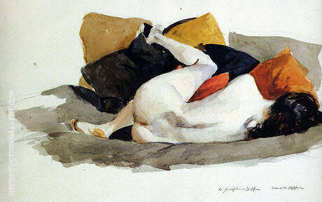 Reclining Nude 1924-27 By Edward Hopper - Oil Paintings & Art Reproductions - Reproduction Gallery