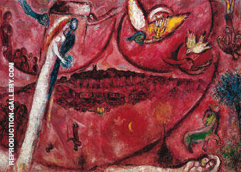 Song of Songs III Painting By Marc Chagall - Reproduction Gallery