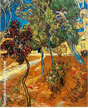 Trees in the Asylum Garden 1889 By Vincent van Gogh