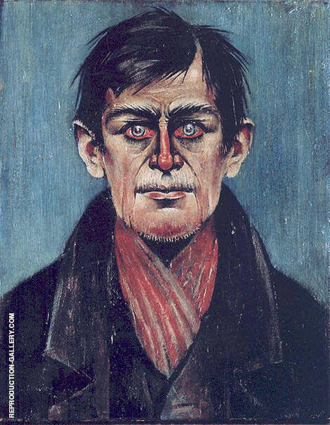 Head of Man Painting By L-S-Lowry - Reproduction Gallery