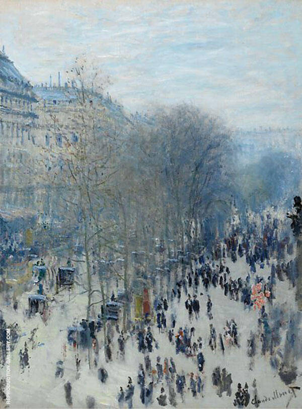 Boulevard des Capucines 1873 by Claude Monet | Oil Painting Reproduction Replica On Canvas - Reproduction Gallery