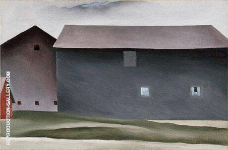 Lake George Barns 1926 By Georgia O'Keeffe - Oil Paintings & Art Reproductions - Reproduction Gallery