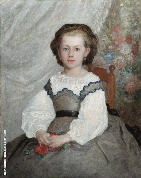 Portrait de Romaine Lacaux 1864 Painting By Pierre Auguste Renoir